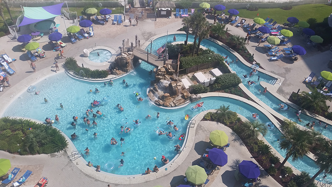 The Lazy River And Pool At Holiday Inn Resort In Pensacola Beach