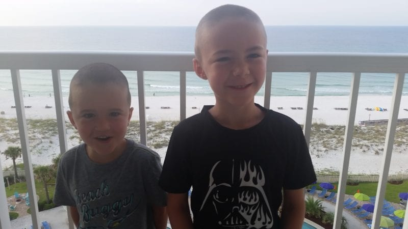 View from balcony at Holiday Inn Pensacola Beach
