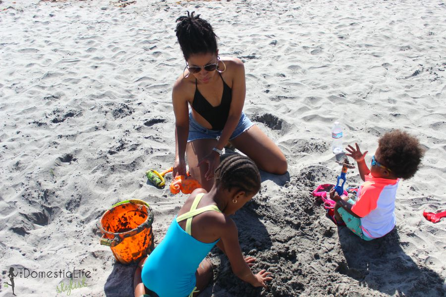 Make sure you back toys and buckets for the sand when you go to the beach with young kids