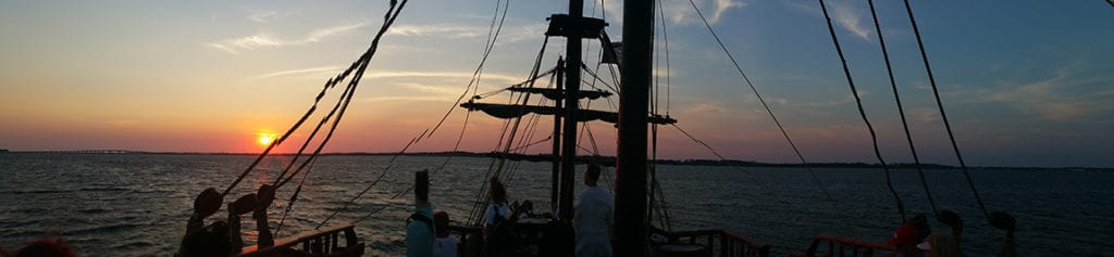 The view from the Pensacola Pirate Ship is wonderful!
