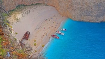 Beautiful Navagio Beach in Zakynthos Greece