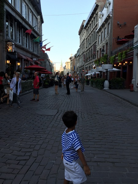 Old Town in Montréal Photo credit: Anuja De Silva/ Cosmopolitan with Kids TravelingMom
