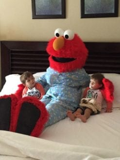 Beaches Ocho Rios Sesame Street Character Tuck In. Photo Credit: Tara Settembre / VIP Traveling Mom