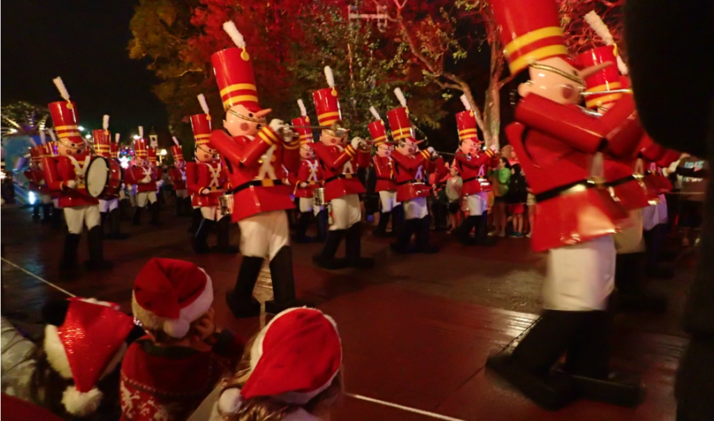Christmas parade at Disney Resort