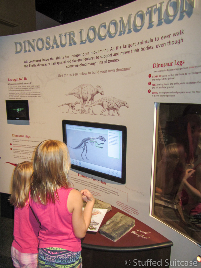 Learning about dinosaurs in Drumheller.