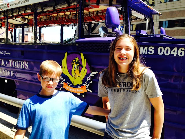 Boston duck tours are very family friendly
