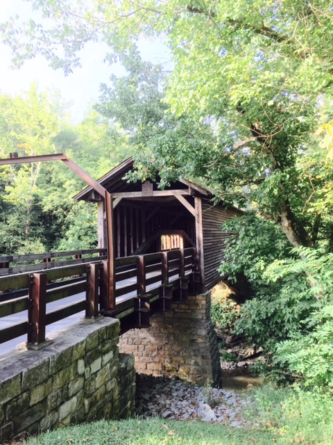 One original, authentic covered bridge still stands in Sevier County. Photo by Christine Tibbetts, Blended Family Traveling Mom.