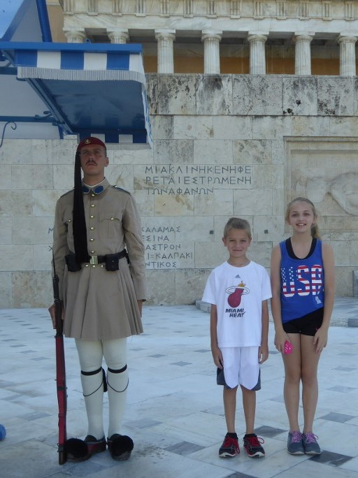 Photo by Jamie Bartosch/Suburban TravelingMom Watching the changing of the guard at the House of Parliament was one of the kids' favorite things to do in Athens.