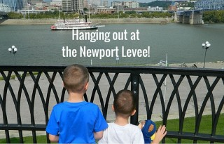 Visiting the Newport Levee! Photo Courtesy: Allison Taylor Research Traveling Mom