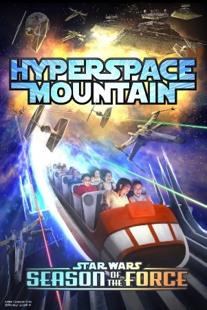 Hyperspace Mountain now open at Disneyland. Photo credit: Disney.
