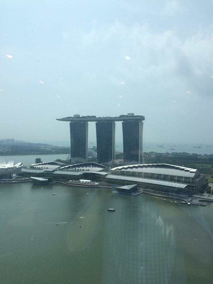 Marina Bay Sands when air quality made it possible to actually see the sights.