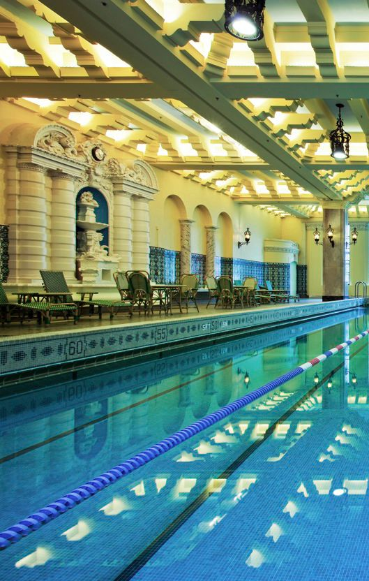 """Tarzan"" actor Johnny Weissmuller and synchronized swimmer Esther Williams both trained in this pool at the InterContinental Chicago, one of the most beautiful downtown Chicago hotels."