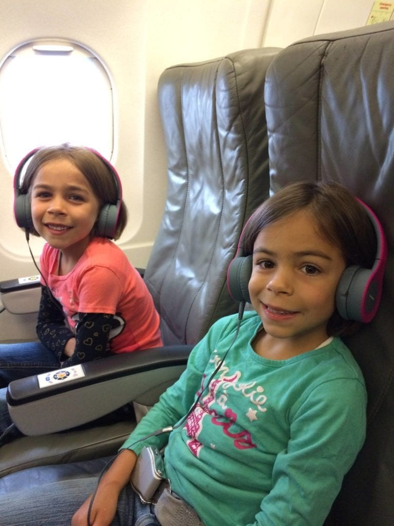 Keeping kids healthy by avoid germs on an airplane