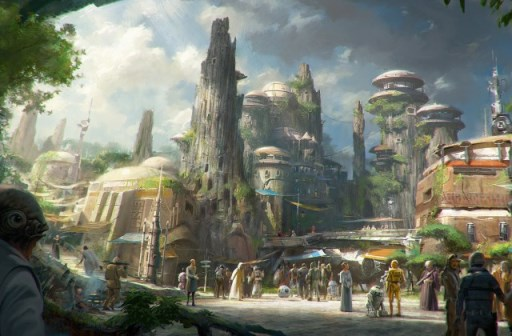 Concept art for the new Star Wars-themed land. Photo credit: Disney.