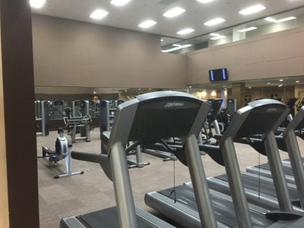 Can you believe this size of the gym at this Minneapolis family hotel?