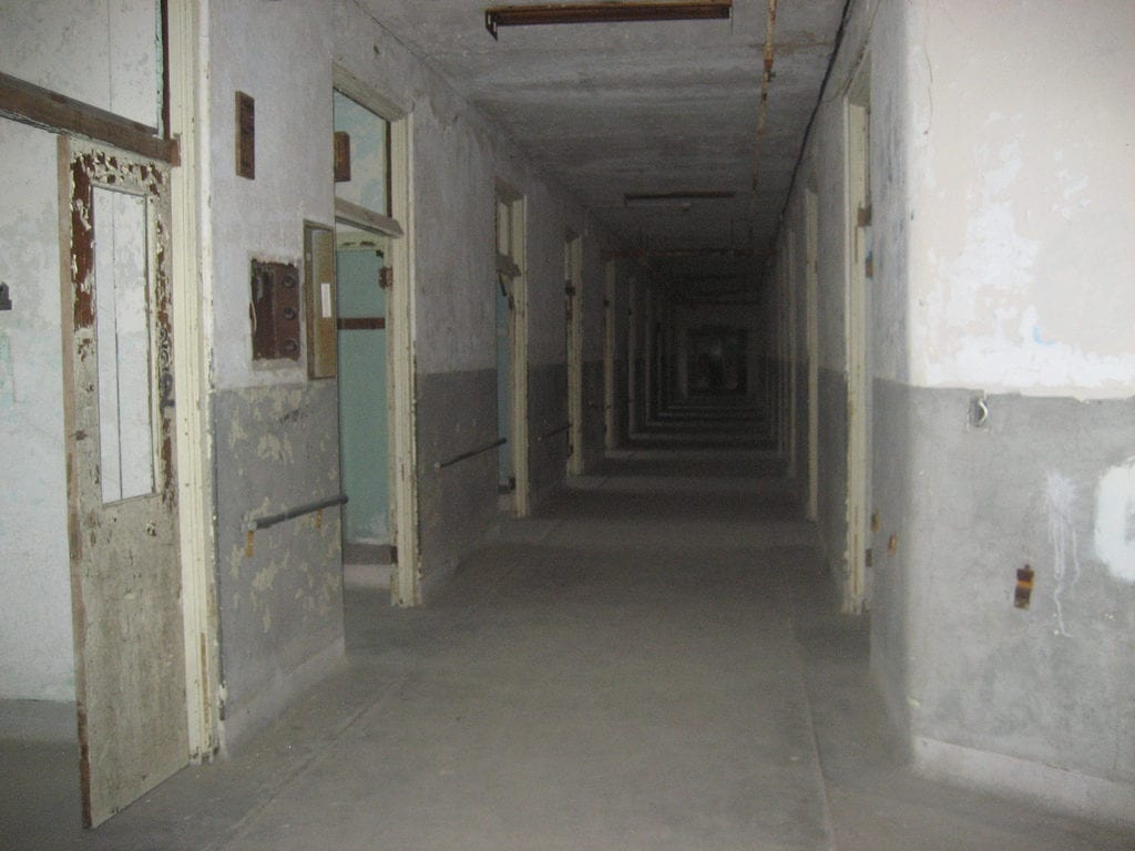 Looking down a patient hallway at Waverly Hills. Photo Courtesy: Allison Taylor/Research TravelingMom
