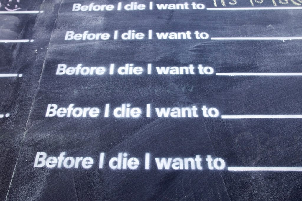 Before I die wall. Photo Courtesy: Speed Museum