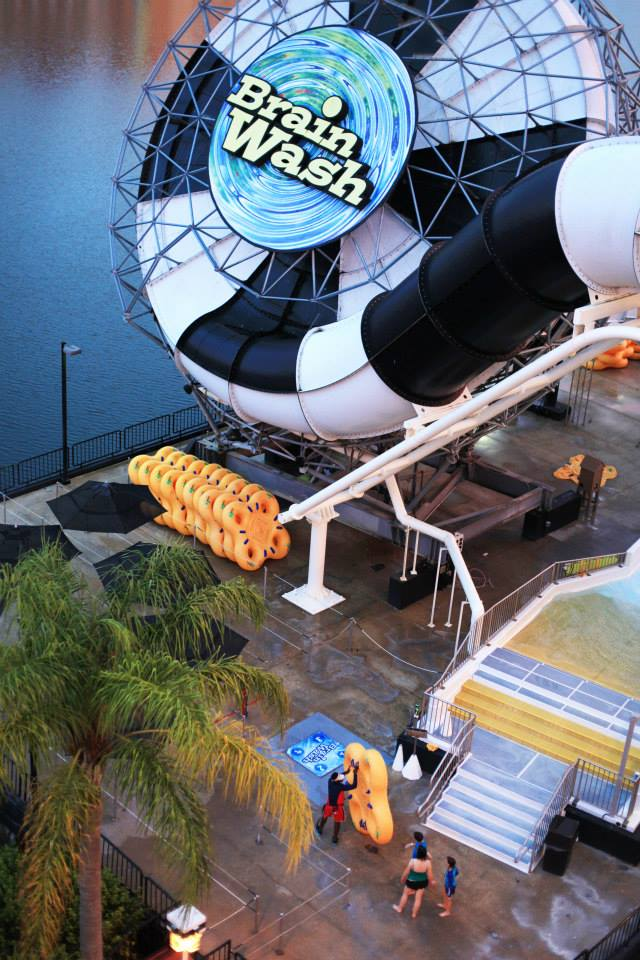 Brain Wash at Wet N Wild Water Park - A mind-altering trip down a 53-foot vertical drop into a domed funnel. Photo credit: Mom It Forward