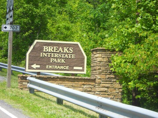 Entering Breaks Interstate Park.
