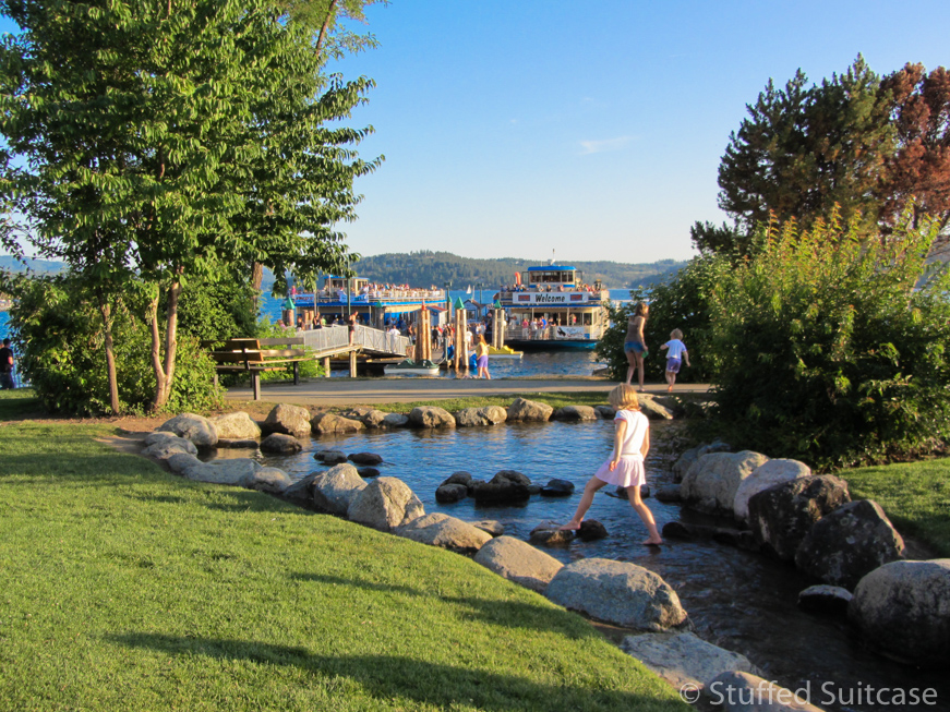 Kids will love to explore and discover the City Park and Beach in Coeur d'Alene, Idaho