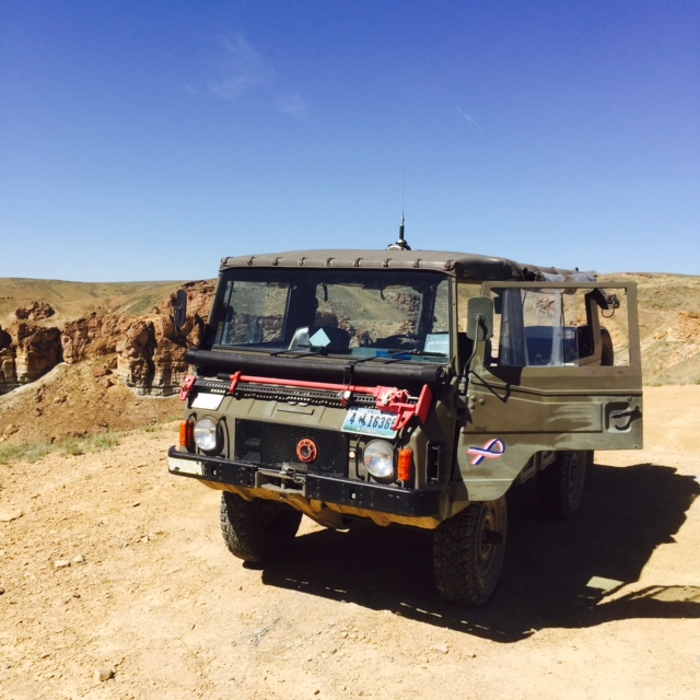 Best way to to experience Wild Horse Scenic Loop os atour in this Swiss Army truck. Photo by Christine Tibbetts, Blended Family TravelingMom.