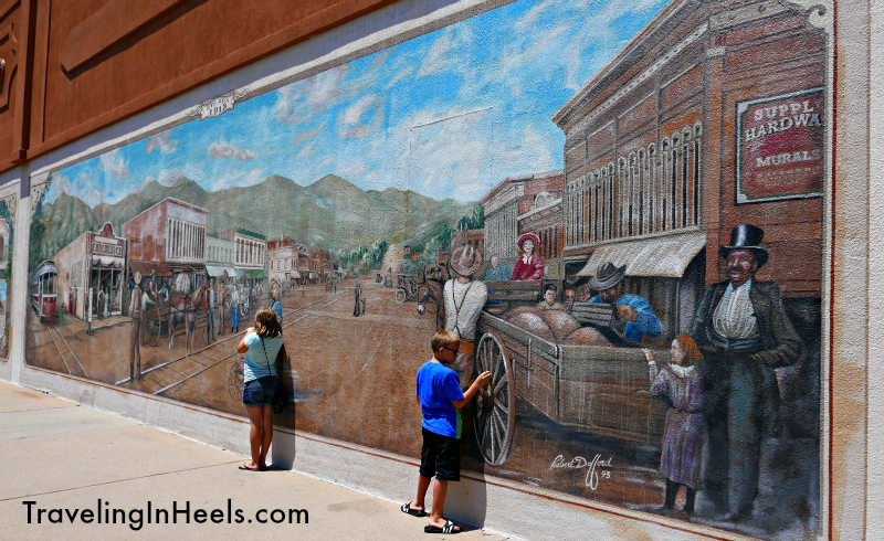 Take a self guided walking tour in Golden and discover its public art, with more than 30 statues and murals