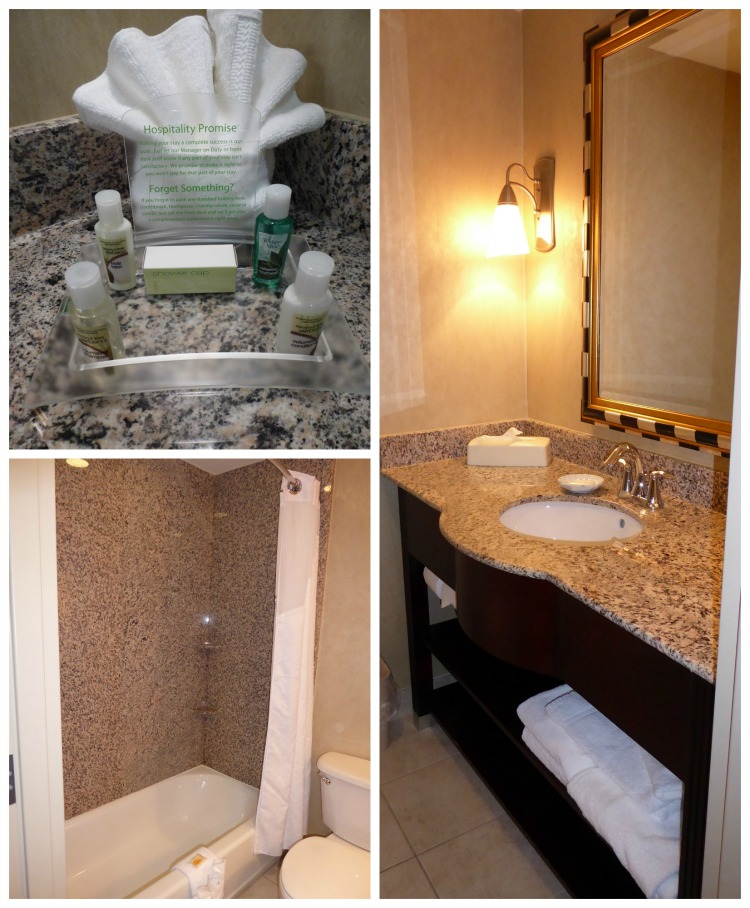 Updated bathrooms of the Holiday Inn Winter Haven, a LEGOLAND Florida Preferred Hotel.