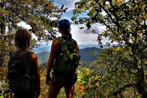 High up on the Appalachian Trail. Beautiful views of the Smokies! Photo Credit: Kady Kellogg