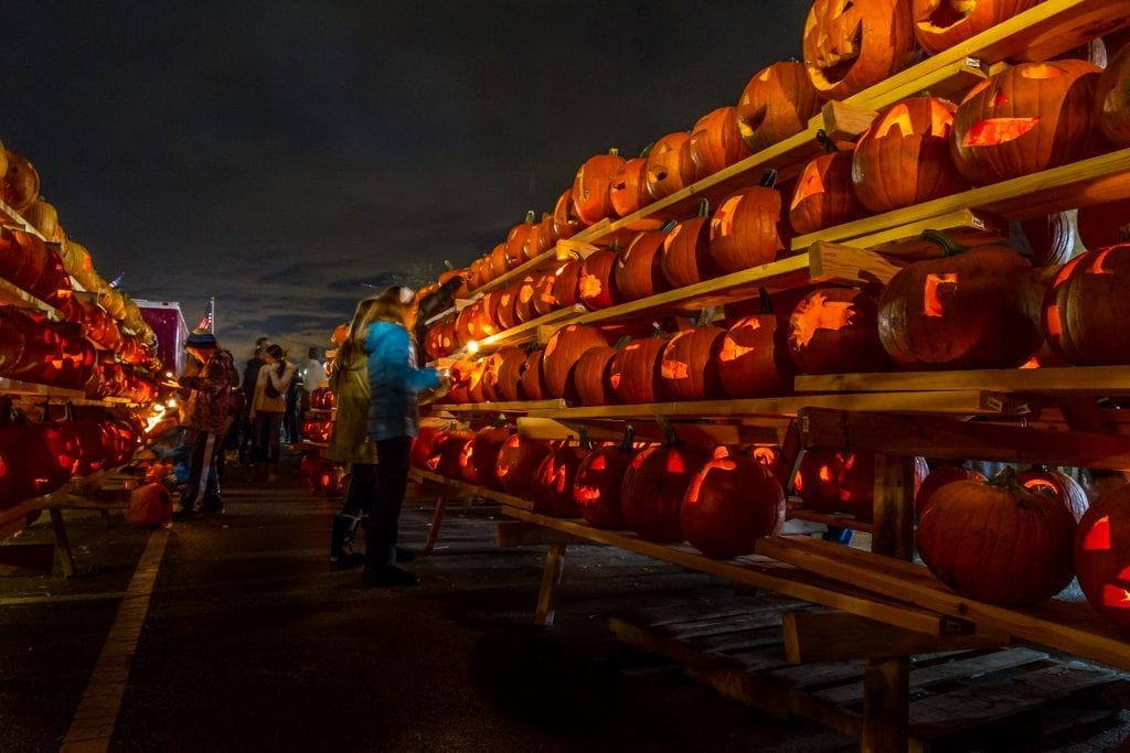 Photo courtesy of The Great Highwood Pumpkin Fest Walls of lit-up pumpkins are the signature feature at this popular, family-friendly fall fest in suburban Chicago.