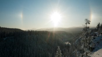 Sun Dog near Whitehorse Yukon Territory