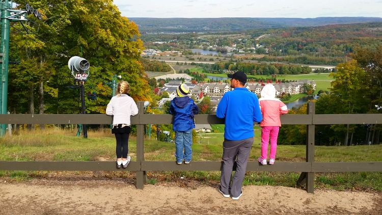 The View from the Top of Boyne Mountain. Photo Credit: Mary Moore / Retro TravelingMom