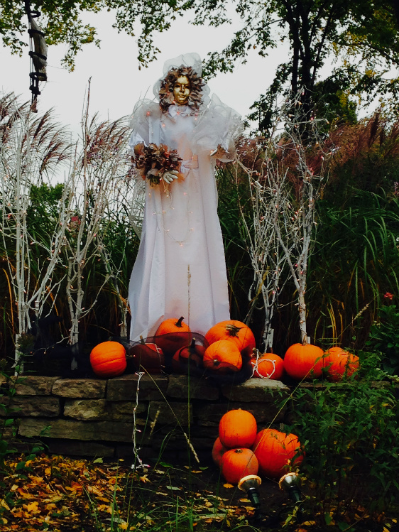 Halloween in Joan of Arc Garden, Photo by Terri Marshall, Globetrotting Grandmom