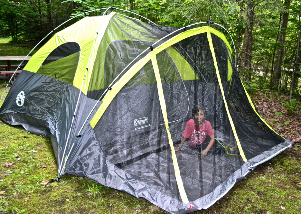Photo credit Marina K. Villatoro /Gringa TravelingMom & Family Camping Tents - Coleman - Review - Traveling Mom