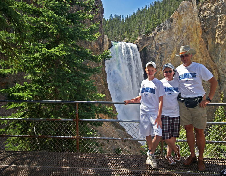 The Jasinskis at Yellowstone National Park.