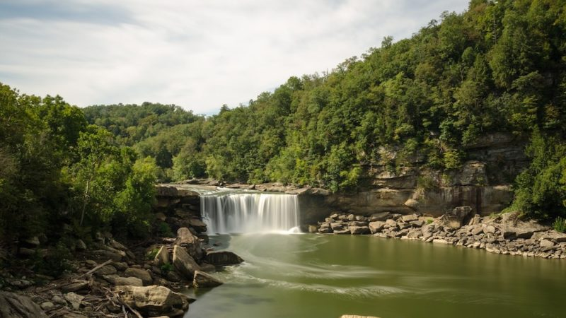 Free things to do in Kentucky: Visit a waterfall.