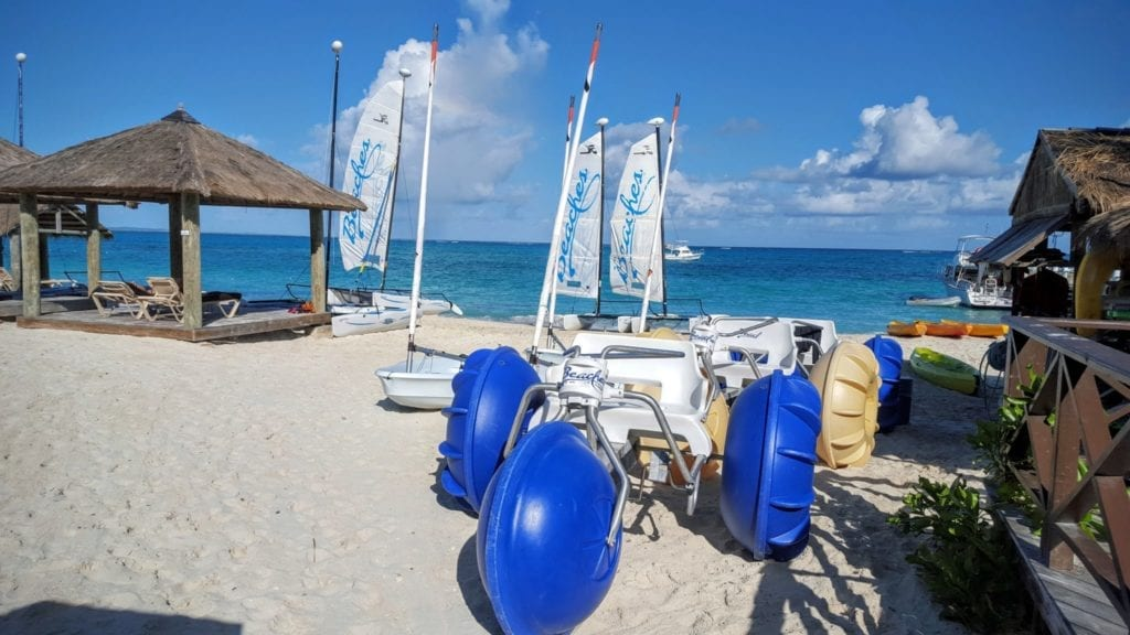 Beaches Resorts Turks and Caicos includes water sports in the all-inclusive fee.