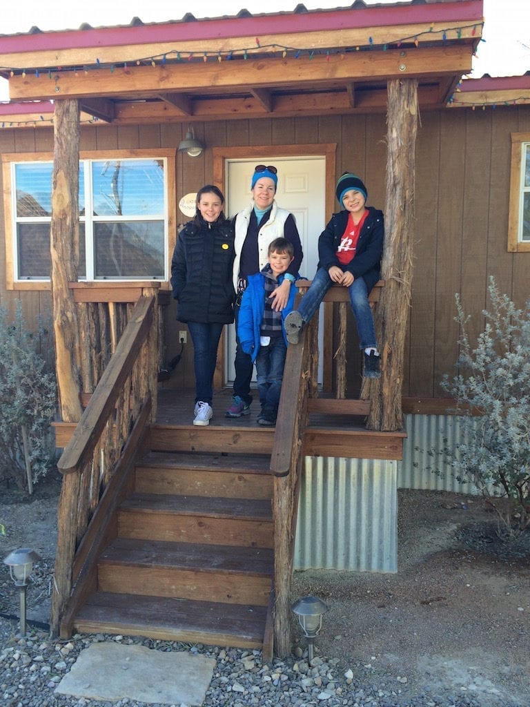 Outside our cabin in Terlingua. Photo courtesy of Catherine Parker