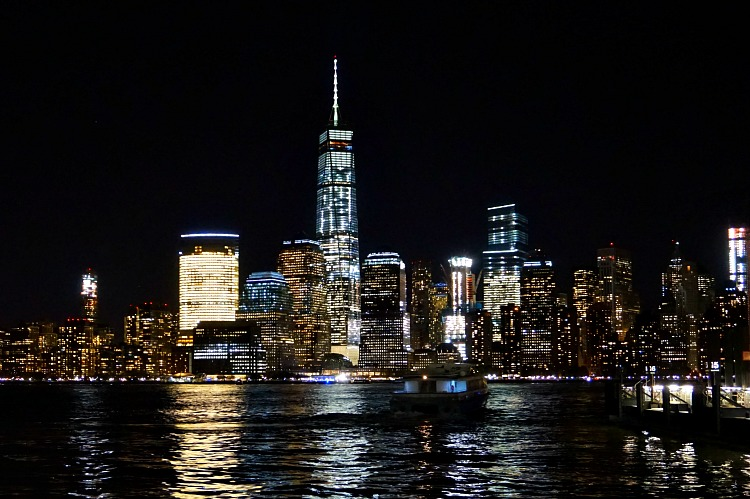Night View of NYC from Hyatt Regency Jersey City on the Hudson - photo by Yvonne Jasinski
