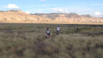 Family Mountain Biking in Fruita Colorado at dusk