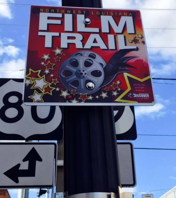 Film Trail signs and QR codes make matching movies with locations easy. Photo by Christine Tibbetts, BlendedFamily Traveling Mom.
