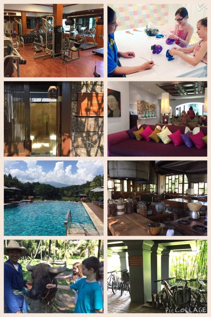 Clockwise Gym, Kids Club, Sauna, Spa, Pool, Cooking School, Water Buffalo and Bikes free to use! Photo Credit: Heather B/Expat TravelingMom