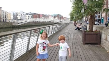 The Ha'Penny Bridge Along the Liffey River, Dublin