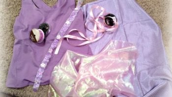 The making of a runDisney Rapunzel outfit.