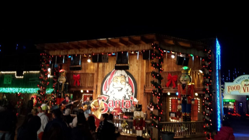 The Santa's Wonderland stage is home to some great Texas bands.