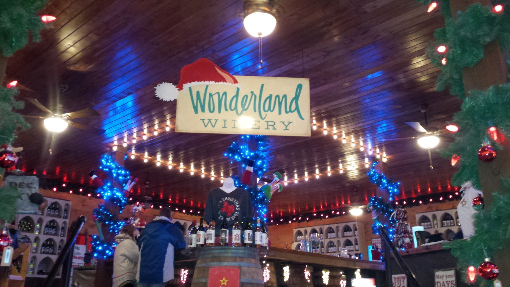 Santa's Wonderland even has a winery area on premises.