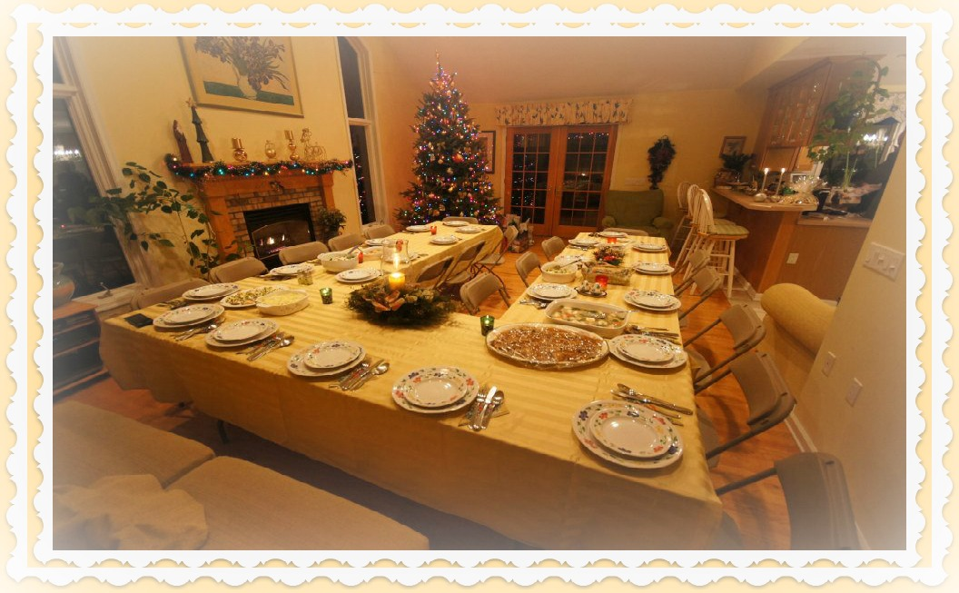 table is ready for polish traditional christmas eve photo by yvonne jasinski credti card traveling