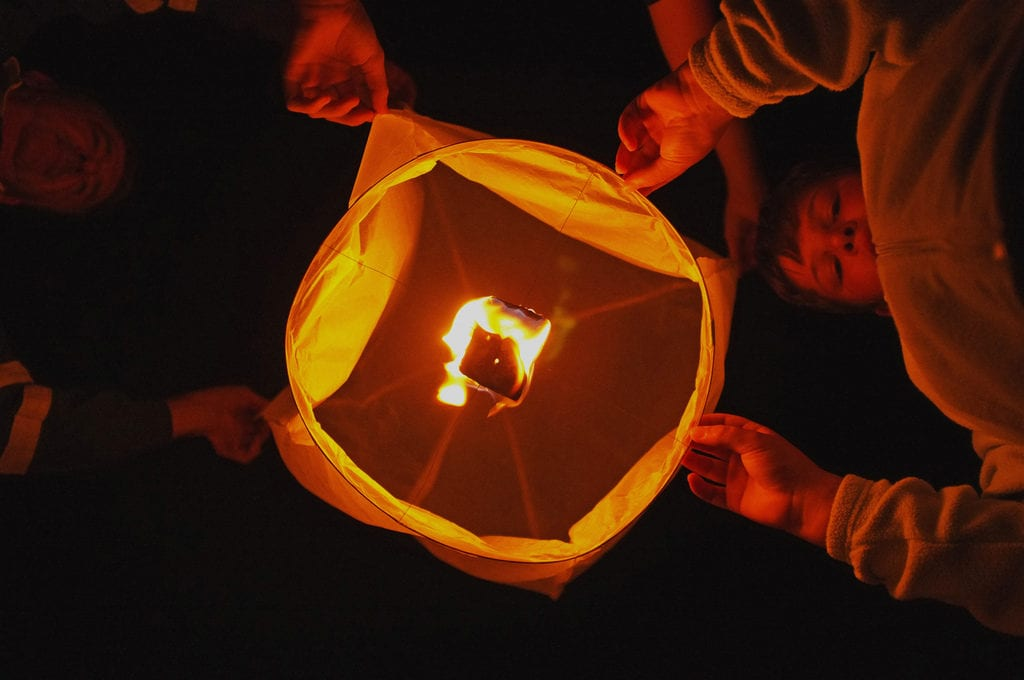 Paper Lanterns for outdoor family fun