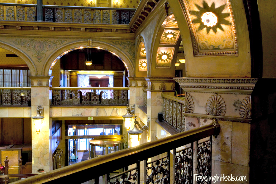 The atrium of the Brown Palace Hotel is stunning from any floor. Photo: Diana Rowe / Traveling Grandmom