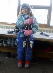 Kindergartener-Learning-to-Ski-Colorado