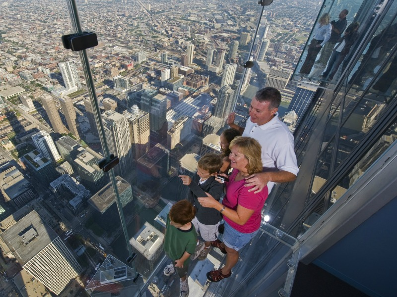 Take in the view from the Skydeck Chicago in Winter-TMOM